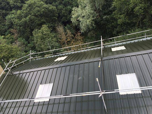 Metal Roof Coating Project in Middlesex