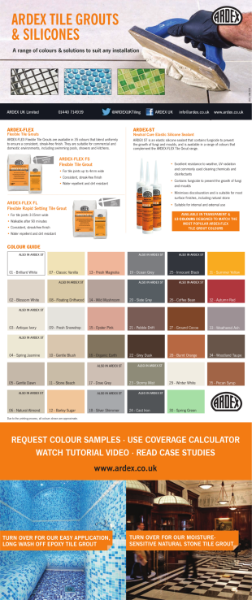 ARDEX Tile Grouts and Silicones