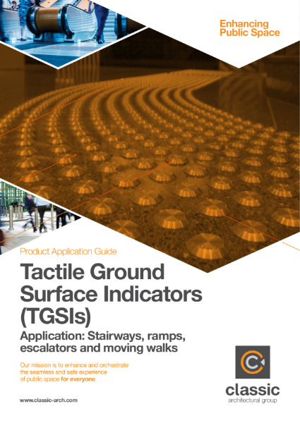 Product Application Guide - Tactile Ground Surface Indicators (TGSIs)