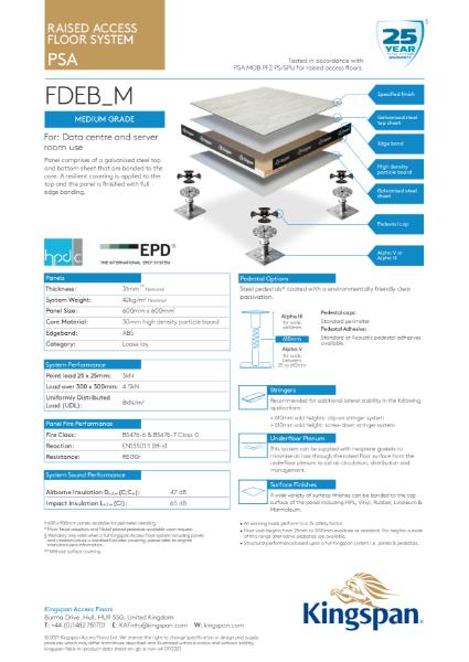 FDEB_M (Medium Grade Access Floor)