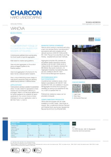 Charcon Vianova block paving