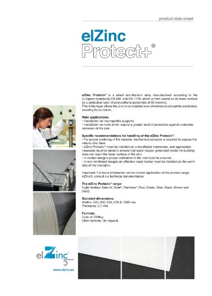 elZinc Protect+ Zinc Datasheet