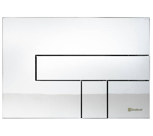 TRF0427L Multikwik Flush Plate - Telesto (Chrome Base Plate and Chrome Button Finish)