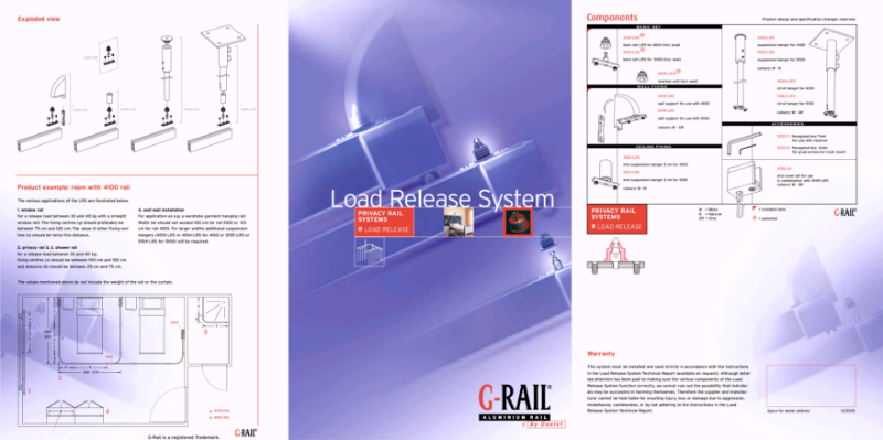 G-Rail privacy rail system - load release