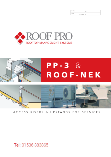 Roof-pro Access Risers and Upstands - PP-3 & Roof-Nek