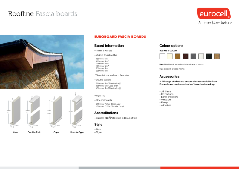 Roofline Fascia Boards Product Specification