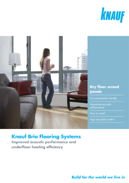 Knauf Brio Brochure - High density flooring panels