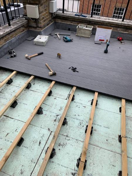 External decking on roof terrace
