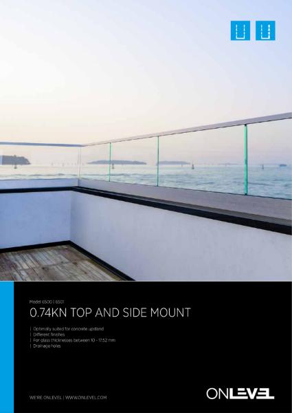 OnLevel Parapet Wall Glass Balustrade system - TL6500