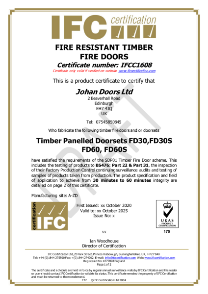 IFC Fire Certification
