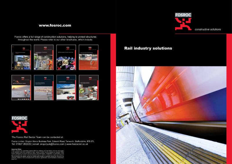 Fosroc Rail Brochure 2013