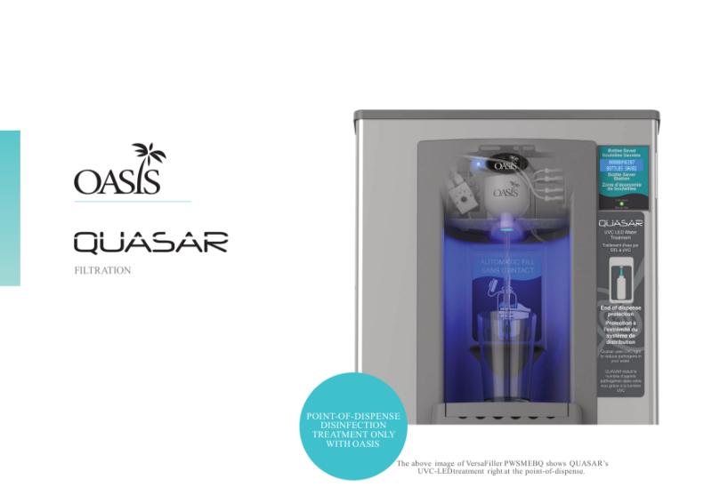 QUASAR UVC-LED Filtration For Bottle Filling Stations