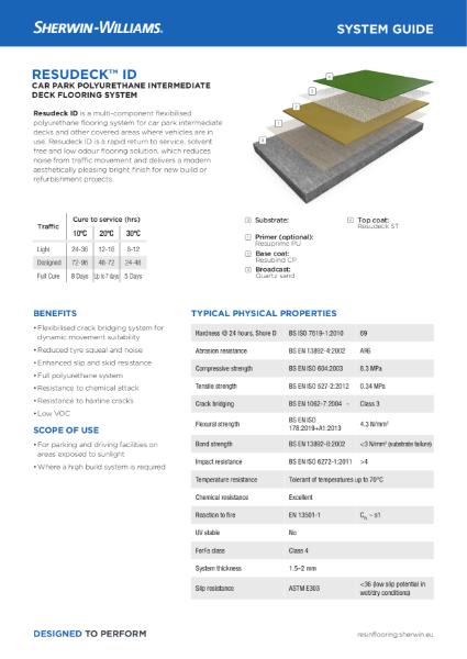 Resin flooring Resudeck ID car park system