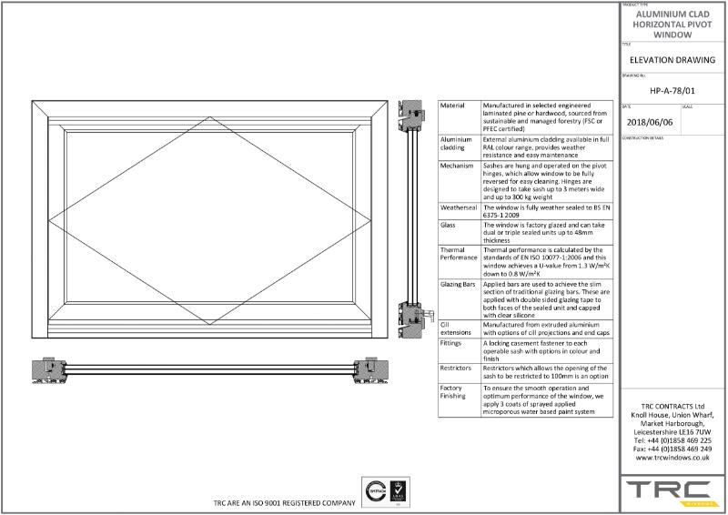 Alu Clad Pivot Windows