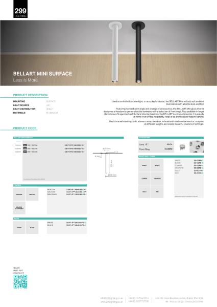 Bellart Mini Surface Downlight Datasheet