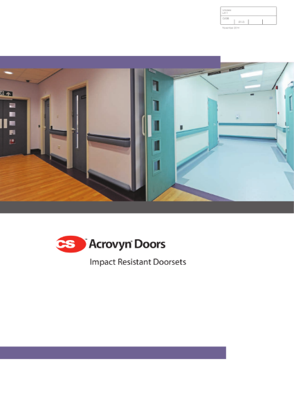 C/S Acrovyn Doors