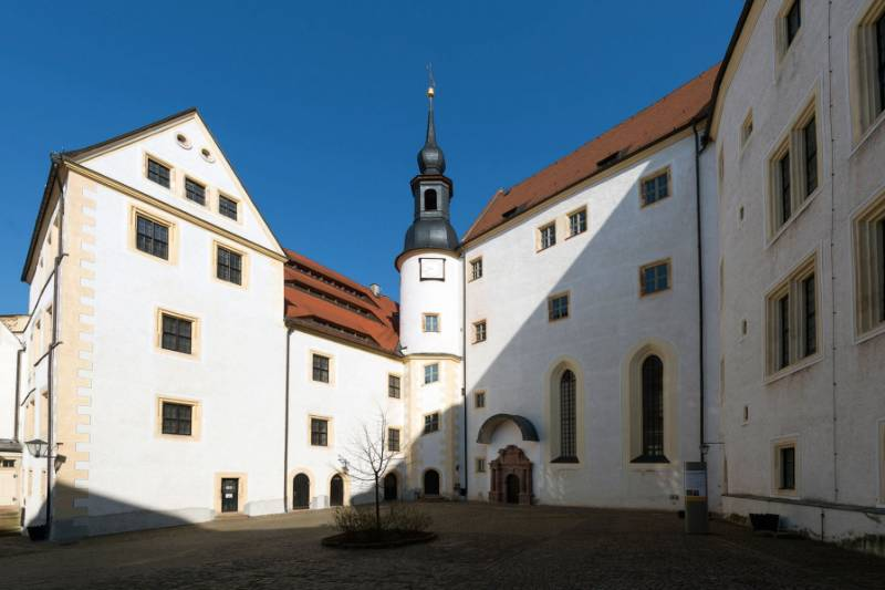 Colditz castle: Teckentrups fire-protection in a historical building with all glass fire doors and fire doorsets creates a brilliantly sympathetic fire protection solution