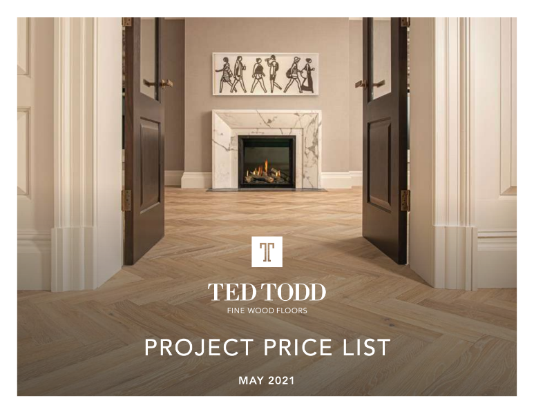 Ted Todd Project Price List 2021