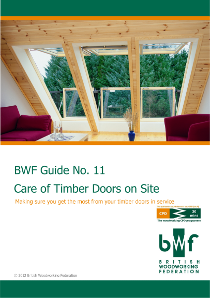 BWF Care of timber doors on site