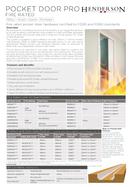 Pocket Door Pro Fire Rated