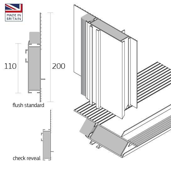 Dacatie FF4000 / FF5000 Insulated Fabricated Frame Former Cavity Closer Profiles for window and door reveals