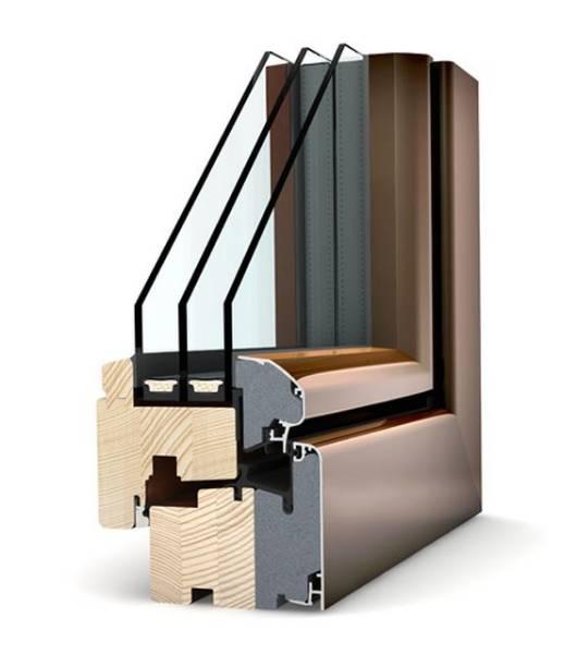 HF 310 Timber/ Aluminium Window
