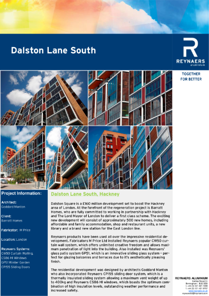 Case Study: Dalston Lane South, featuring aluminium windows and doors