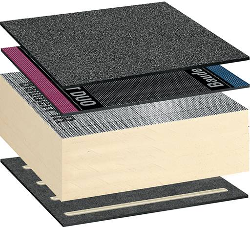 Bauderflex Warm Roof System - Self Adhered