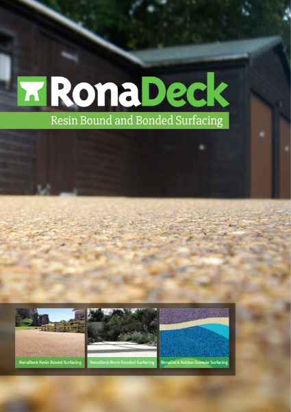 RonaDeck Resin Bound and Bonded Surfacing
