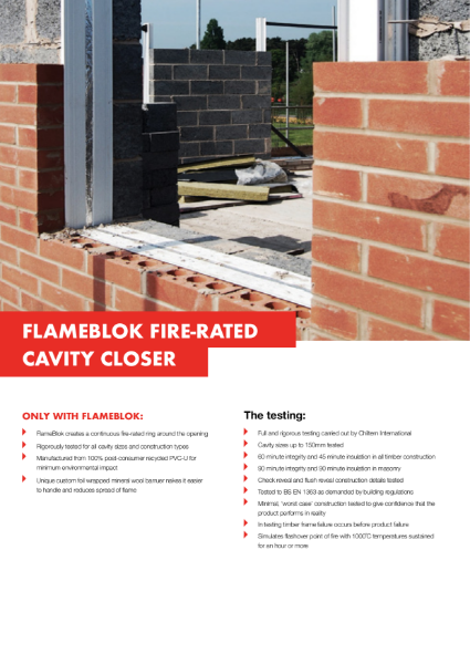 Cavalok FlameBlok Cavity Closer Product Information