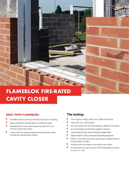 Cavalok FlameBlok Cavity Closer Product Information