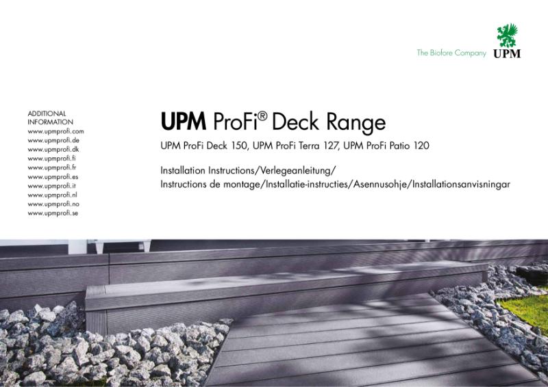 UPM ProFi Deck range installation instructions