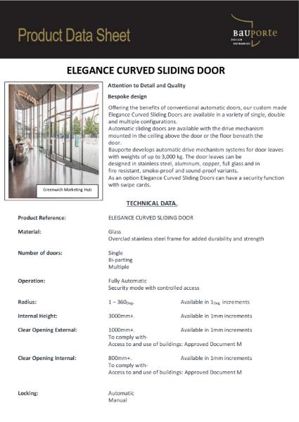 Bauporte Elegance Curved Sliding Doors