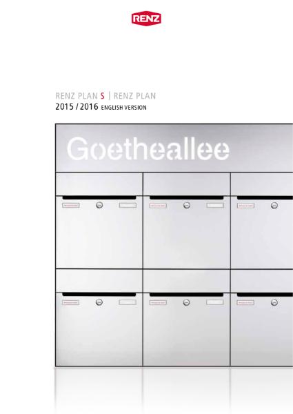 RENZ Plan Brochure