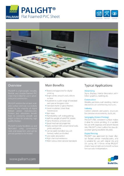 Palight - Flat Foamed PVC Sheet
