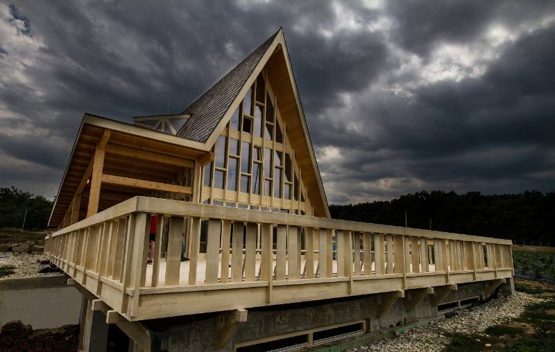 Romanian home made entirely from Accoya