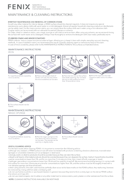FENIX Cleaning & Maintenance