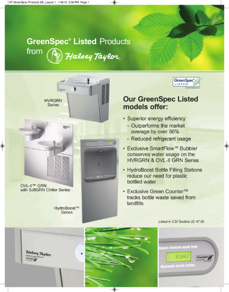 Halsey Taylor GreenSpec Products