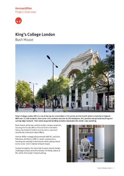 Case Study - Kings College London - Herman Miller