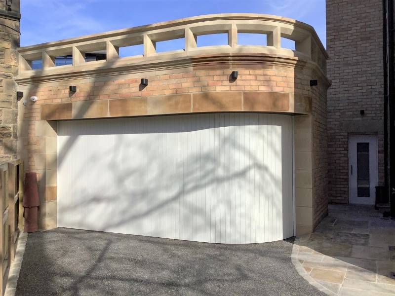 New angle on garage design provides easier vehicle access