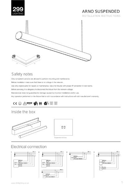 Arno Suspended Linear Lighting Installation Instruction