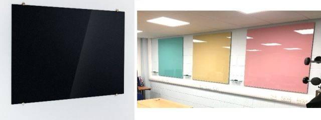 Sundeala TeacherBoards Glass Board - Wall Mounted Frameless Magnetic Writing Surface