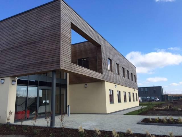 Kestrel Aluminium. Case Study: Welsh Air Ambulance Charity HQ, Llanelli