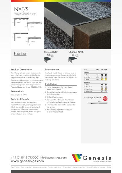 Frontier Stair Nosing Datasheet
