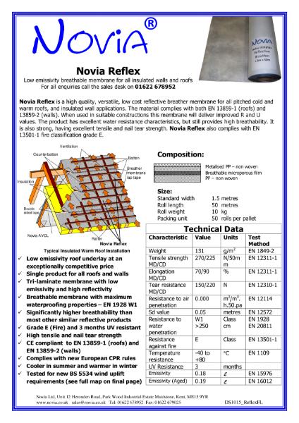 Novia Reflex Breather Membrane