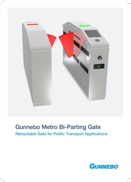 Metro Bi Parting Ticketing Turnstile Gate
