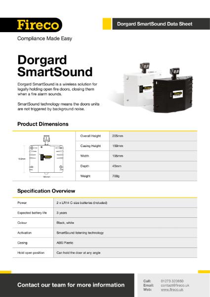 Dorgard SmartSound Technical Data Sheet