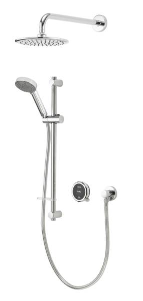 Quartz Touch Smart Divert Concealed Shower with Adjustable and Fixed Wall Heads