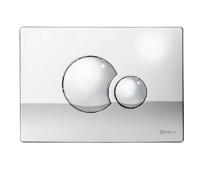 TRF0427E Multikwik Flush Plate - Eclipse (Chrome Finish)