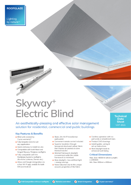 Flatglass with Integral Electric Blinds